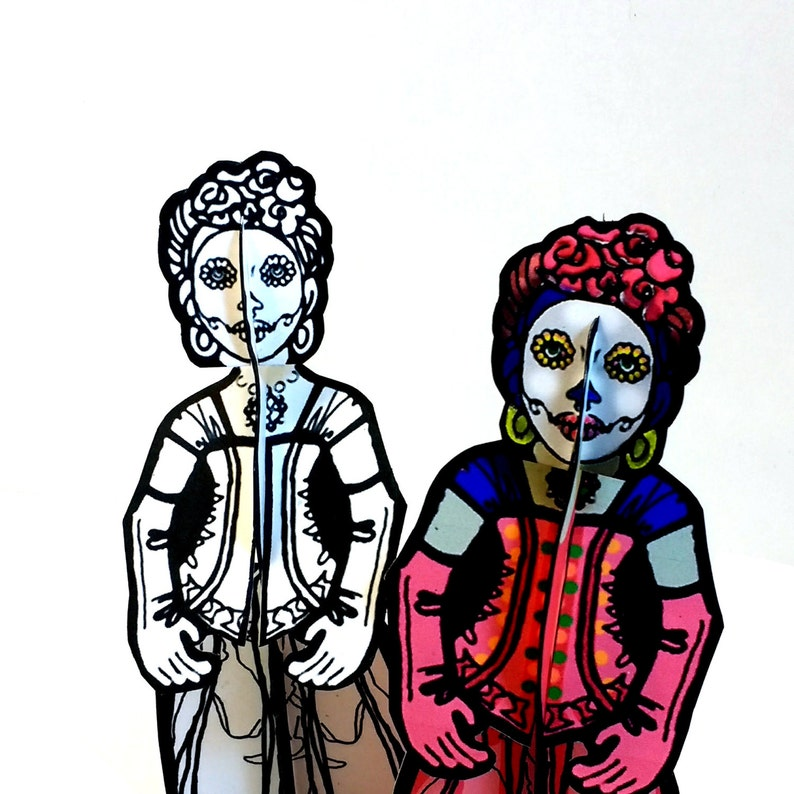 La Calavera Catrina Sugar Skull Monster Paper Doll Set  image 0