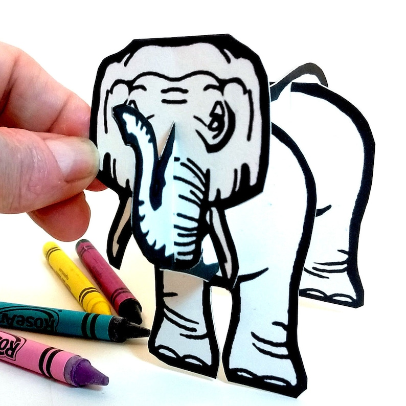 Elephant  Coloring Printable  Toy image 0