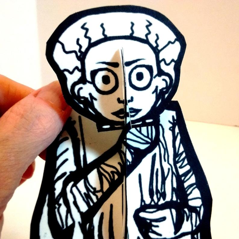 Bride of Frankenstein Monster Paper Figure  Printable Toy image 0