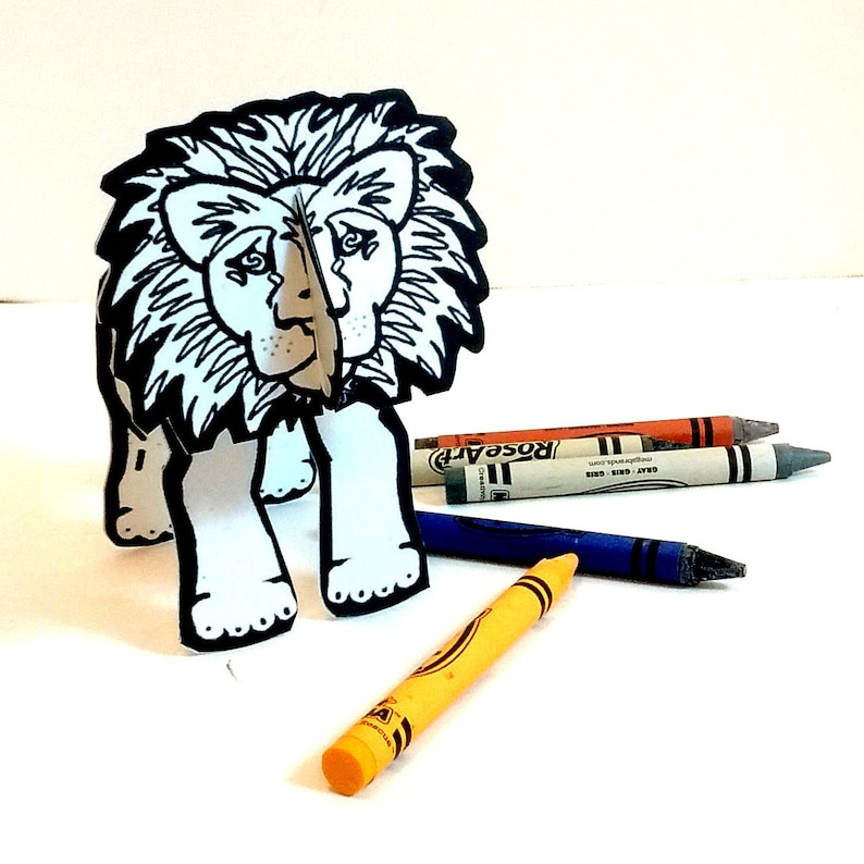 Lion  Coloring Printable  Toy image 0