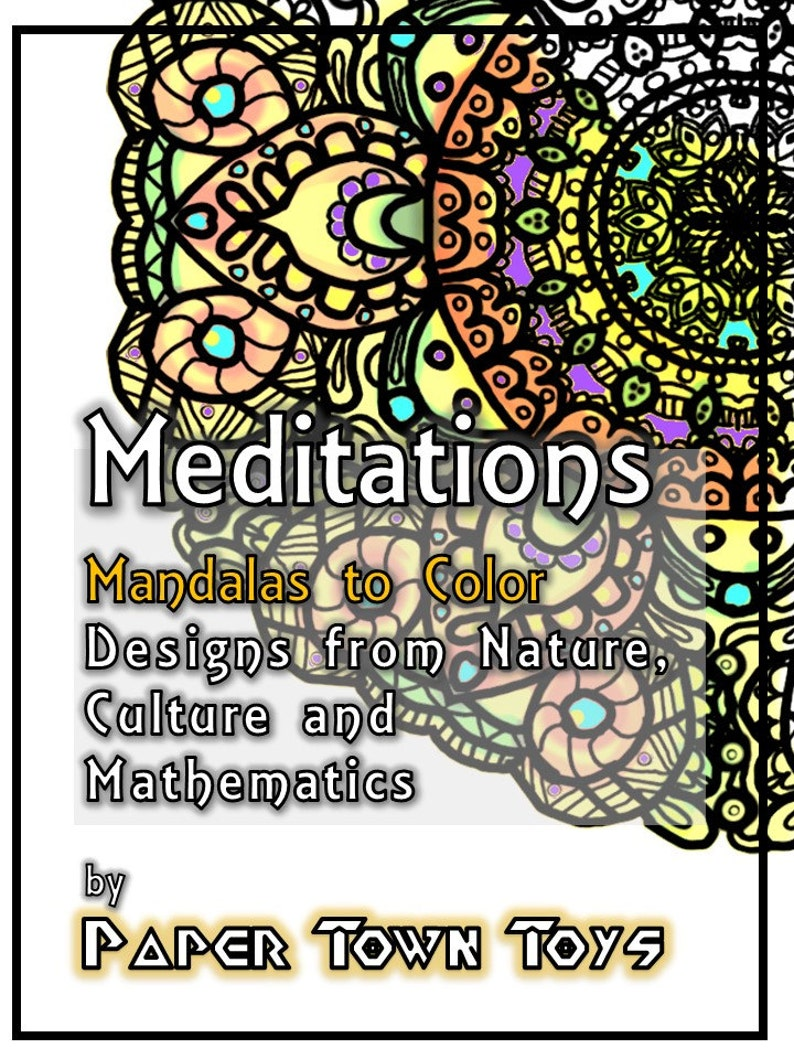 Mandala Coloring Book Printable Download  Meditations on image 0