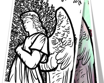 Angel Coloring Page Printable Download
