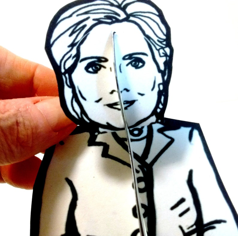 Hillary Clinton Paper Doll  Printable Toy image 0