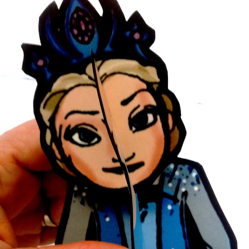 Princess Frost Paper Doll Set  Printable Toy image 0