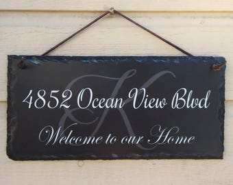 House Number Plaque! Personalized Name Plaque. Welcome To Our Home Sign, Address Plaque. House Warming Gift. House sign. Family Name.