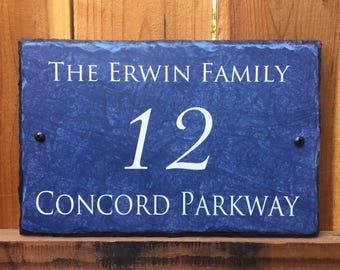 Home Address Sign! Personalized House Number Plaque. Welcome To Our Home. Outdoor Sign. Address Plaque. House Warming Gift. House Number.