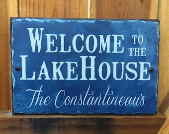 Lake House Sign. Personalized Sign. Lake House Decor. Outdoor Sign. Family Name Sign. Wedding Gift. House Warming Gift.