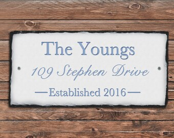Home Address Plaque! Personalized House Name Sign. Established Outdoor Sign. House Number Plaque. House Warming Gift. Address Plaque.