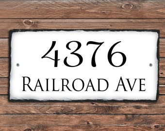 Home Address Sign! Personalized House Number Plaque Address Plaque Stone Plaque Wedding Gift House Warming House Number Plaque stone sign