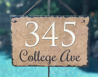 Home Address Sign! Personalized House Number Plaque. Welcome To Our Home. Outdoor Sign. Wedding Gift. House Warming Gift. House Number