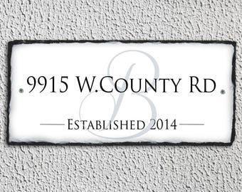 Home Address Plaque! Personalized Name Plaque. House Number Plaque. Wedding Gift. House Warming Gift. Address Plaque. Established Date sign