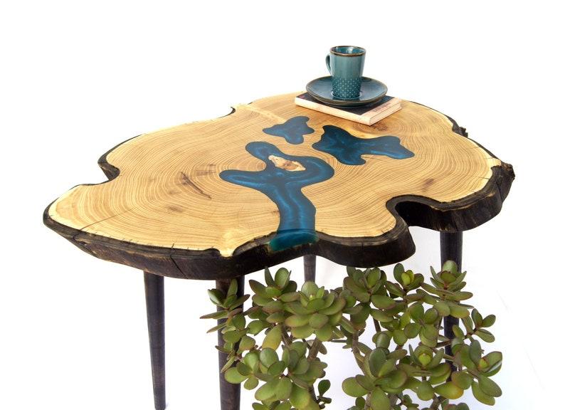Navy Blue Epoxy Resin Table