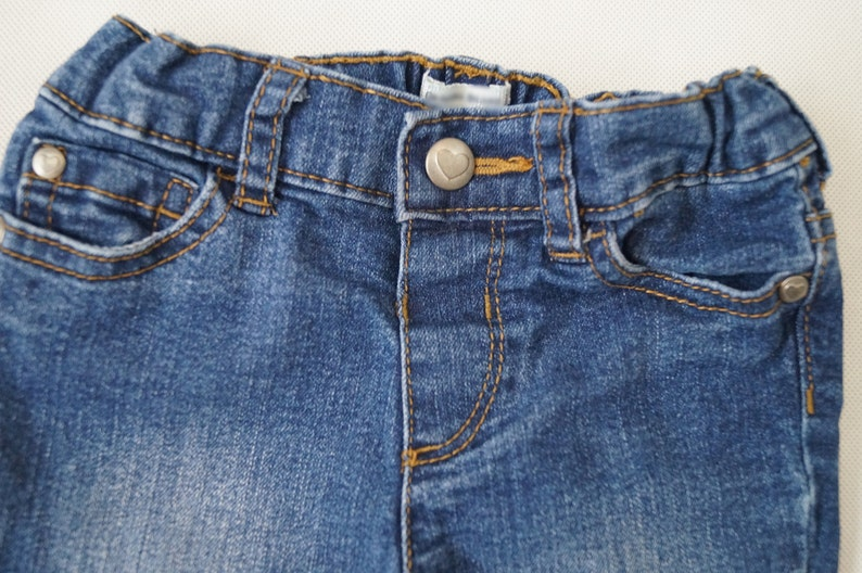 Toddler Girls DENIM Bleached Jeans Size 4T