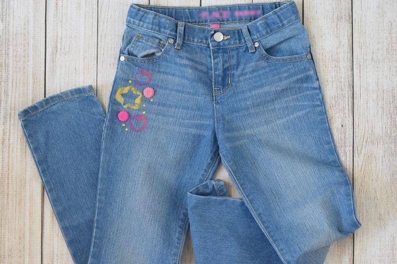 Girls DENIM Jeans Size 10 Skinny