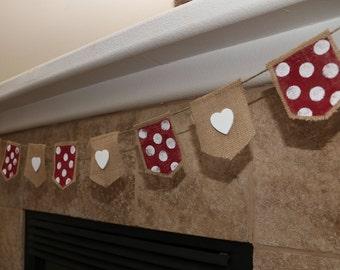 Valentine Burlap Decorative Banner