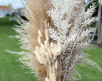 Pampas Grass, Bunny Tails & Italian White Ruscus Bundle | Home Decor | Pampas Grass Bouquet | Fall Decor | Thanksgiving | Fall Wedding Decor