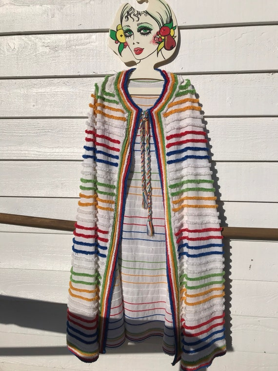 1930's/40's Chenille Rainbow Beach Cape