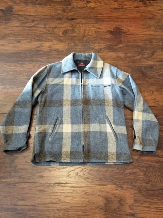 3d95bea8ea3 60 s Johnson Woolen Mills Blue Plaid Jacket