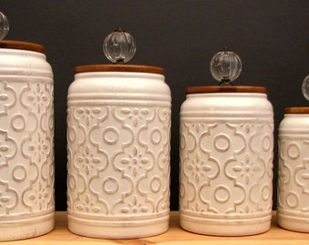 Peachy Canister Set Etsy Home Interior And Landscaping Ologienasavecom