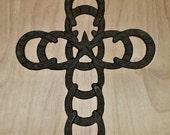 Horseshoe Cross - Wall Cross - Wall Crucifix - Western Cross - Rustic Horseshoe Cross - Star Cross Wall Crucifix - Metal Cross - Lucky Charm