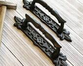 Handles, 1 Handle, Handles and Pulls, Handles Cabinet, Handles for Door, Cast Iron Handle, Decorative Hardware, Barn Door Handle, Gate Pulls