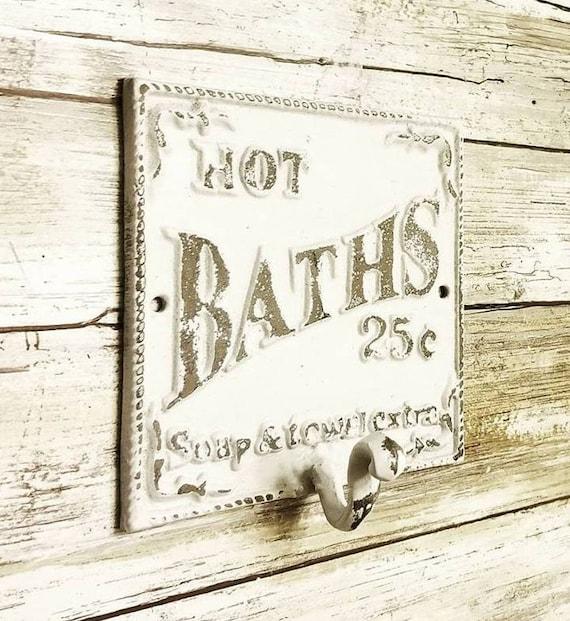 Bauernhaus-Badezimmer-Dekor Handtuch-Haken Badezimmer | Etsy