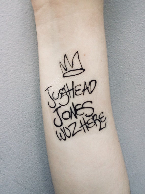 Jughead Jones Was Here Riverdale Temporary Tattoo Cosplay Etsy