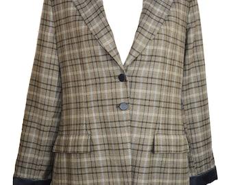 a68c3914d48cd Giorgio Armani vintage blazer   vintage Giorgio Armani   check blazer   Giorgio  Armani jacket vintage   wool blazer   2019 trends