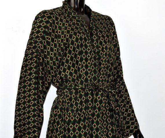 SOLD /1980 CHRISTIAN DIOR silk robe / dior silk /