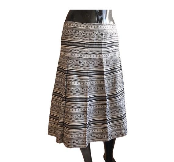 Nine West 00s silk midi skirt , monochrome , midi