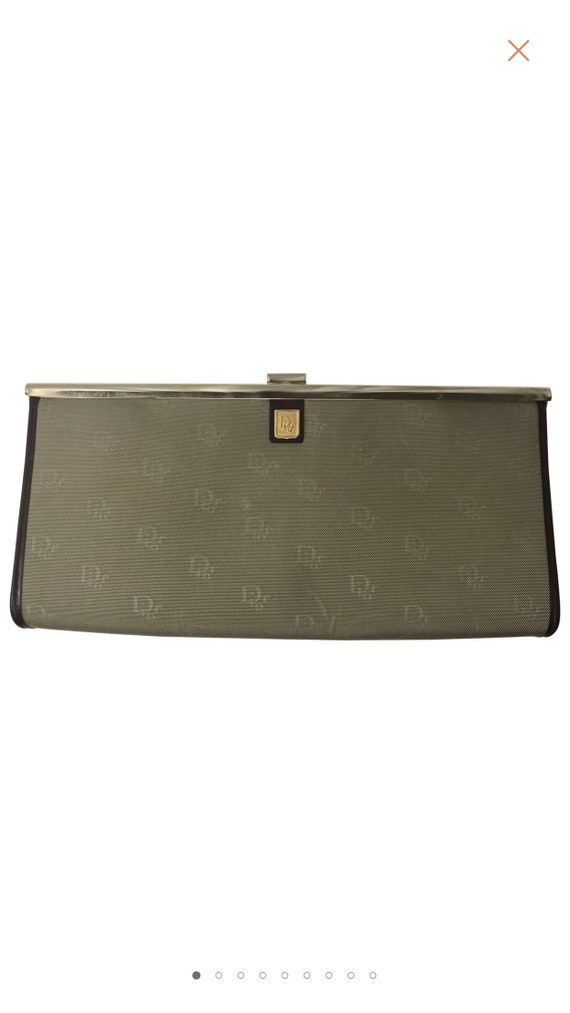 70s RARE DIOR clutch / canvas monogram / elegant c