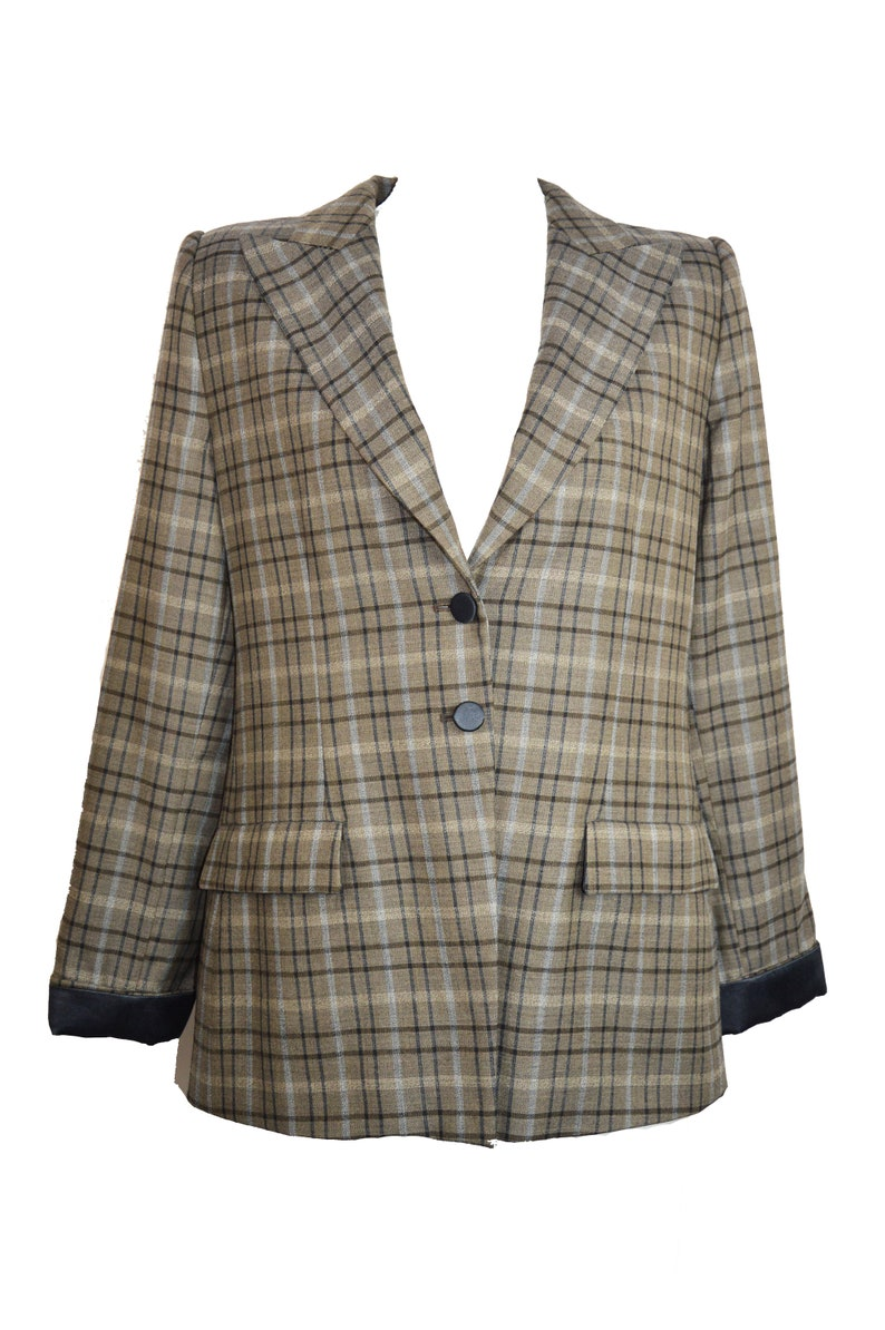 c526d4045a278 Giorgio Armani vintage blazer   vintage Giorgio Armani   check