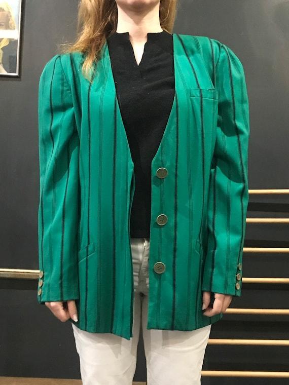Krizia shamrock green blazer
