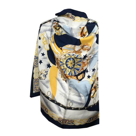 Silk scarf / Vintage silk scarf / Huge silk scarf