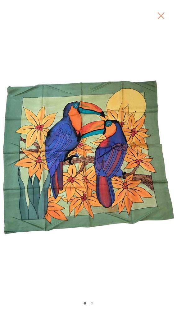 Stunning  designer big silk scarf / silk scarf / h