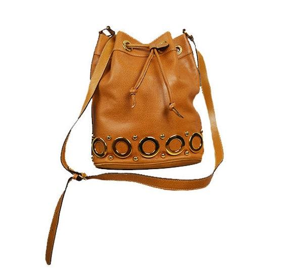 Escada vintage leather bucket bag / Escada bag / L