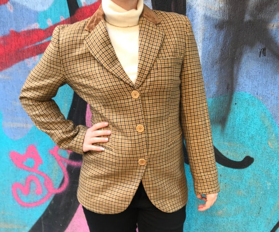 Vintage. Tartan wool blazer