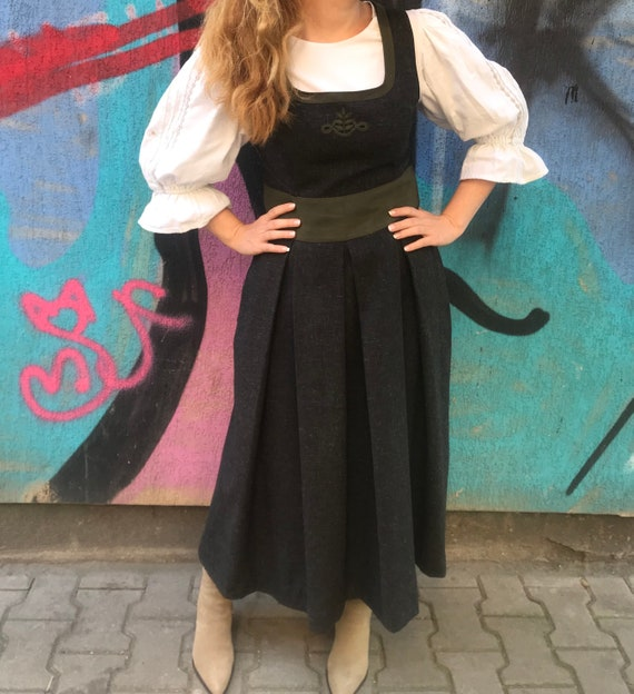 Traditional dirndl dress , tratchen , german , tyr