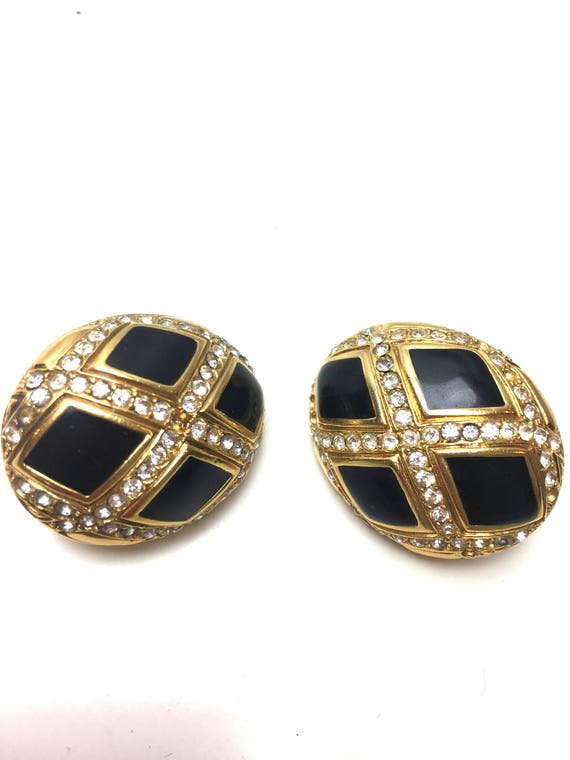 1980 LANVIN couture earrings / pearls form / vint… - image 2