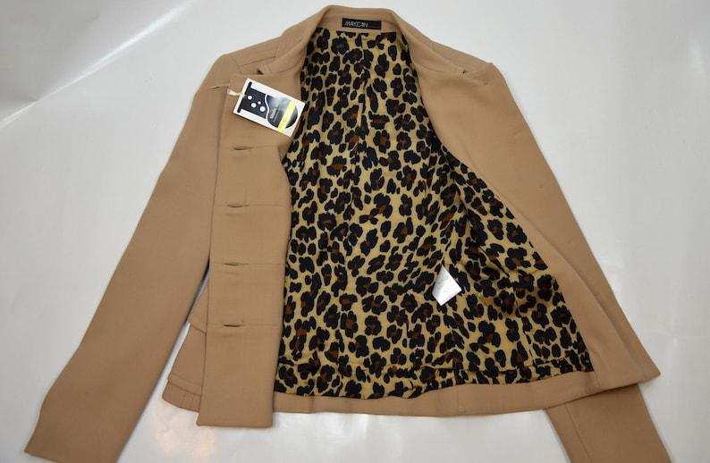 1990 MARC CAIN wool blazer  wool blazer  vintage marc cain  designer blazer  animal print linings  stylish jacket