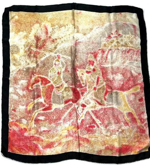 100 % silk scarf / silk scarves / vintage silk sca