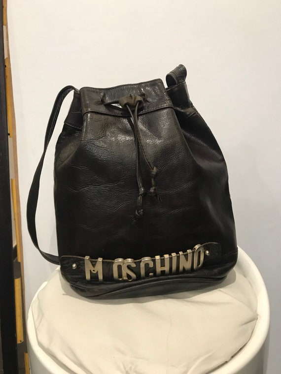 Moschino vintage leather bag