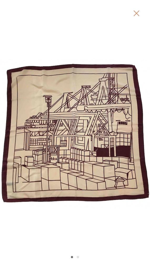 Vintage. Designer silk scarf
