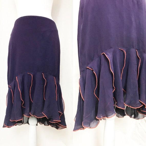 UNGARO silk skirt /Ungaro fuchsia / Emanuel Ungaro