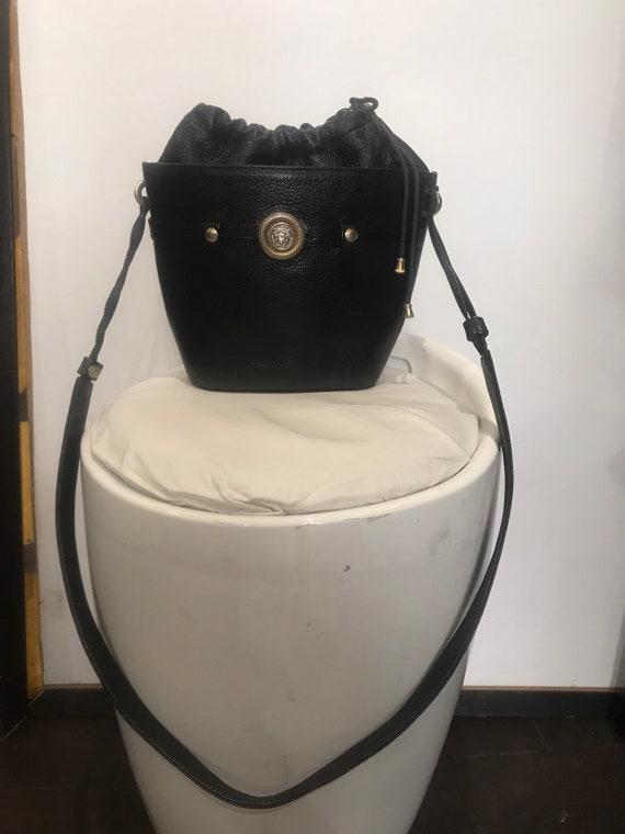 Gianni Versace vintage bucket leather bag