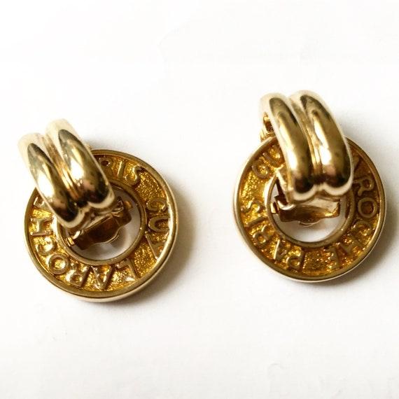 1980 Guy Laroche logo clips / Guy Laroche earrings