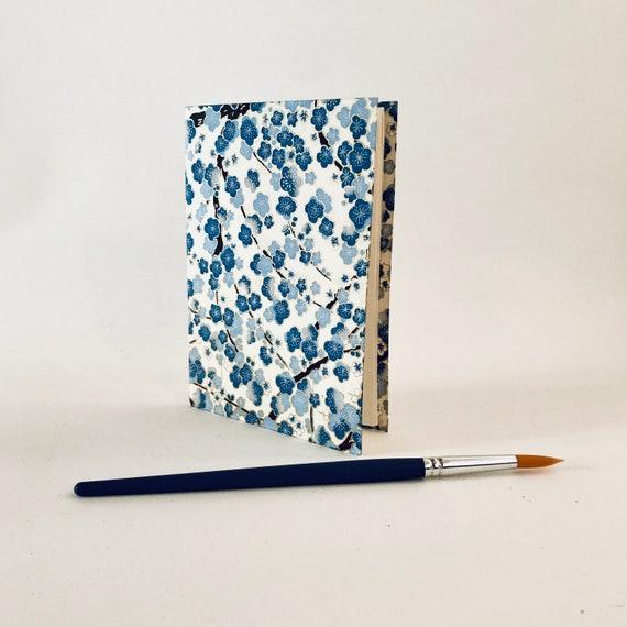 Carnet de notes ou à dessin vierge papier japonais fleuri