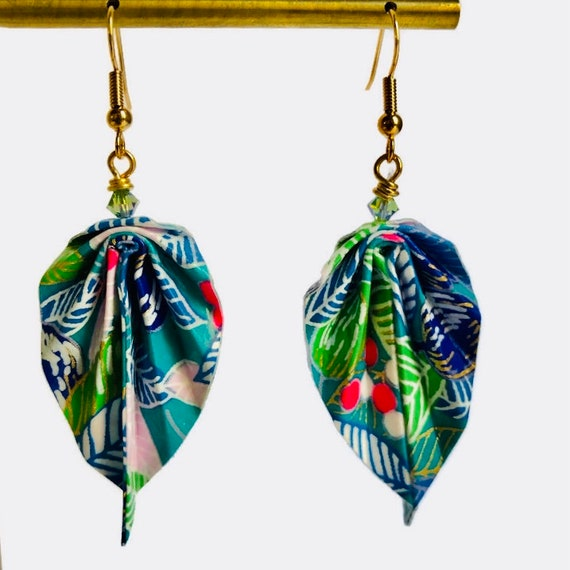 Origami leaves  earrings