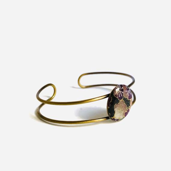Black and golden washi bracelet