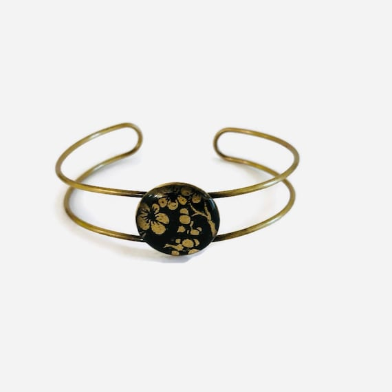 Black and golden washi bracelet